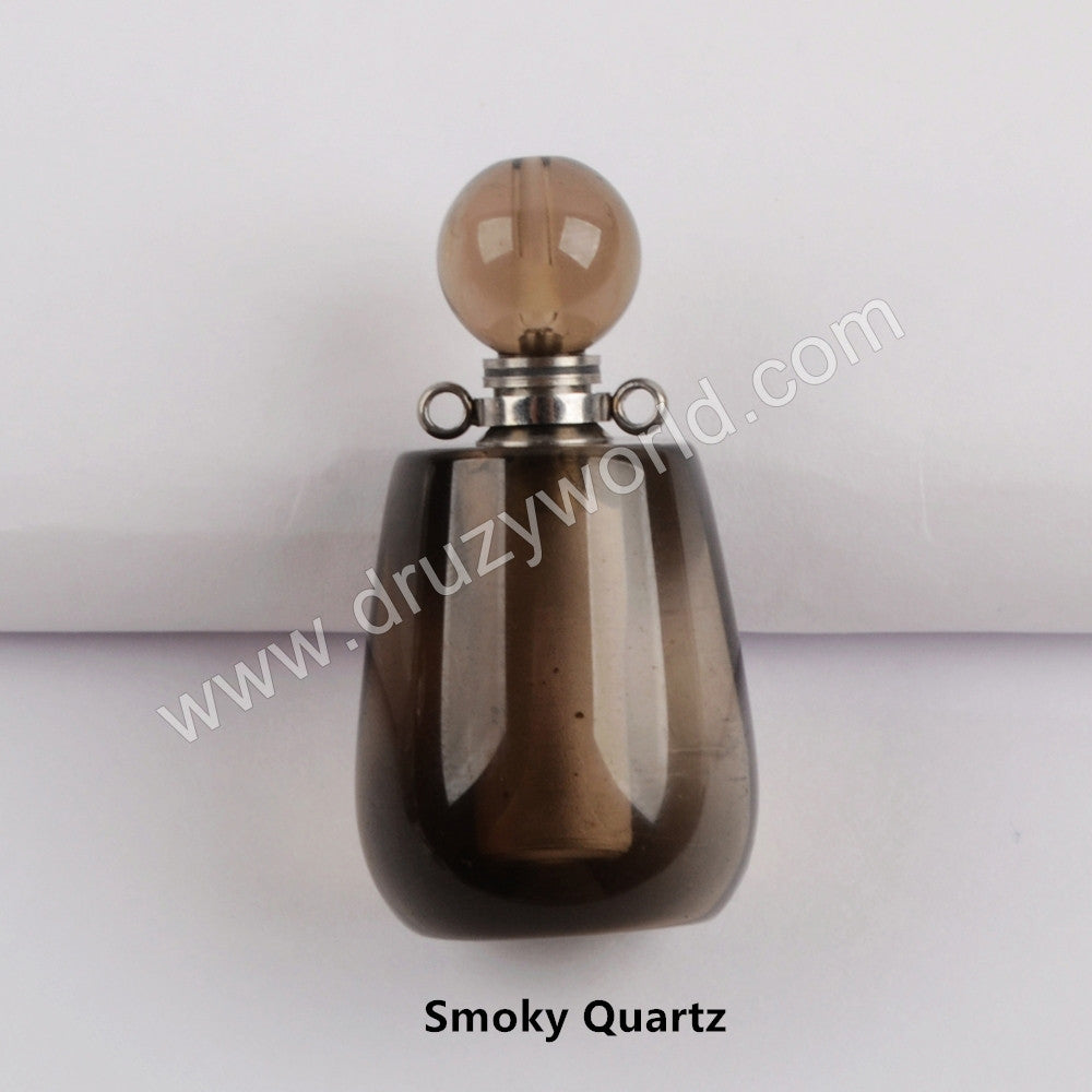 Silver Natural Stone Perfume Bottle Connector WX1193