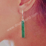 Australia Jade Statement Earrings Women Earrings Silver Plated S1922