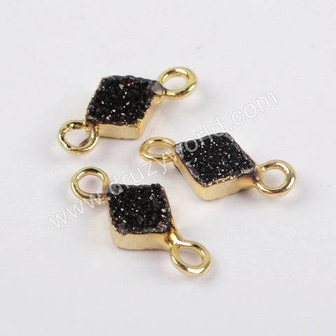 Tiny Diamond Shape Druzy Connector CL274