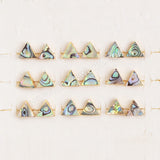 10mm Gold Plated Triangle/Clover/Hexagon Natural Abalone Shell Stud Earrings G0876