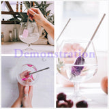 Gemstone Stainless Steel Beverage Crystal Stone Straw WX1762