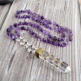 Natural Amethyst Beads Necklace Natural Stones Necklace HD0180