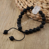 White Quartz Pelelith Beads Bracelet Couple Distance Bracelet HD0158