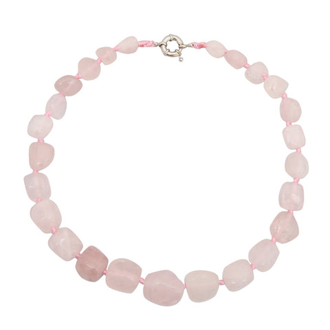Natural Stone Rose Quartz Lapis Amethyst Choker Necklace AL300