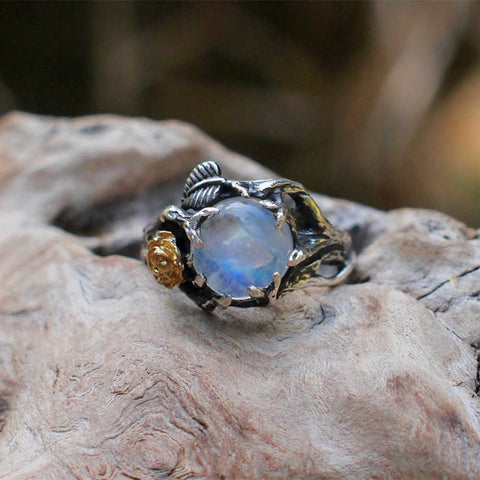 Rose Tree Moonstone Tai Silver Ring AL295