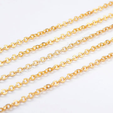 Gold Copper Finished Chain Necklace