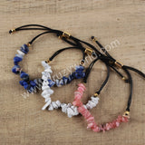 Natural Multi-kind Stones Adjustable Bracelet For Women HD0121