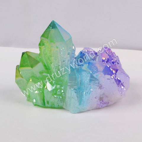 5pieces/lot,Green+blue+purple Crystal Cluster