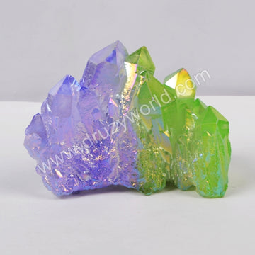 Greeen and purple Crystal Cluster