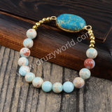 Natural Sediment Jasper Bead Bracelet HD0261