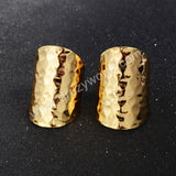 Gold Plated Ring Blank With With Decorative Pattern PJ029-G