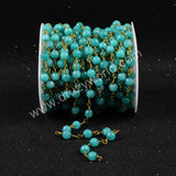 5m/lot,Gold Plated Or Silver Plated Blue Jade Faceted Beaded Chains JT068