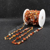 5m/lot,Gold Plated Or Silver Plated Natural Agate Chips Beaded Chains JT051