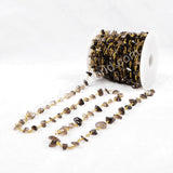 5m/lot,Gold Plated Or Silver Plated Smoky Quartz Chips Beaded Chains JT055