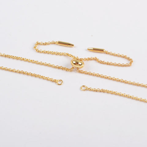 Gold Adjustable Chain Bracelet