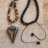 Tigers Eye Mala Bead Necklace Healing Jewelry HD0311