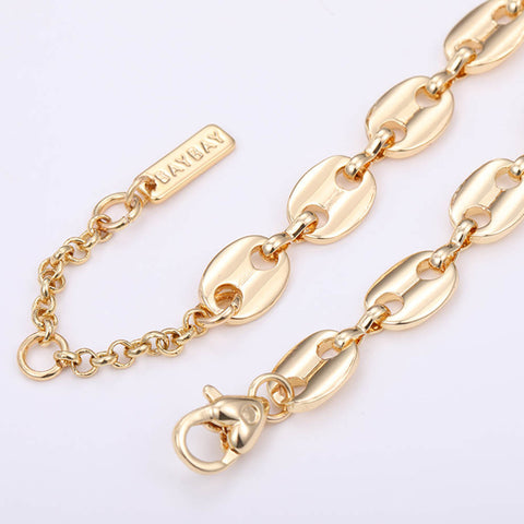 Pig Nose Chain Earrings Bracelet Necklace Jewelry Set AL240
