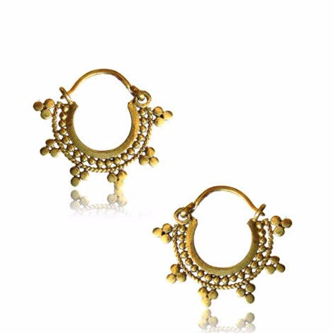 Brass Gypsy Girl Earrings - Pure People