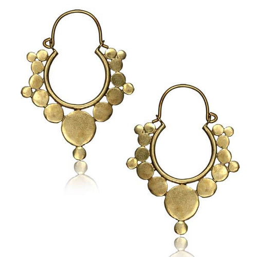 Brass Aphrodite Earrings - Pure People