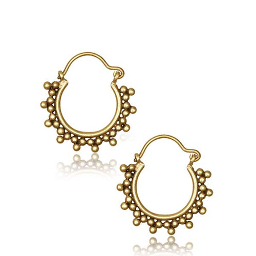 Brass Hippie Chic Earrings - Pure People