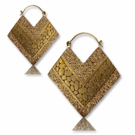 Brass Princess Pashmina Earrings