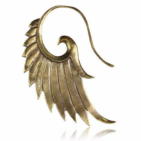 Brass Angel Wing Earring-Pure People