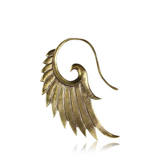Brass Angel Wing Earring - Small - Pure People