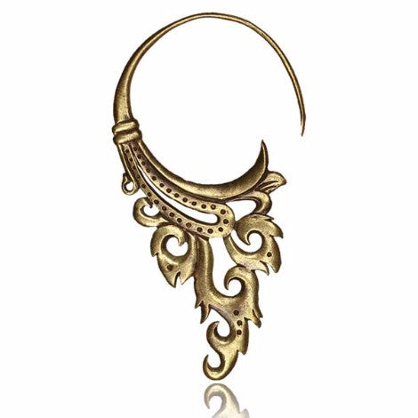 Brass Tribal Goddess Earring - Pure People