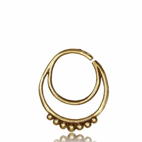 Brass Double Circle Septum