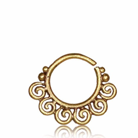 Brass 6 Point Spiral Septum