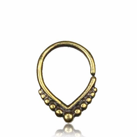 Brass Pointed Septum Ring