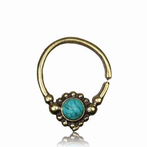 Brass Turquoise Septum - 23% OFF