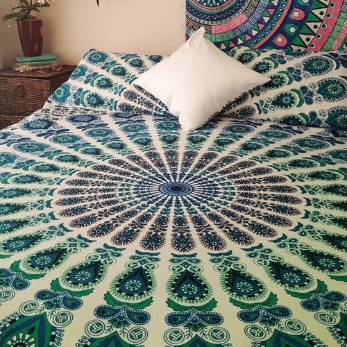 Sacred Circles Bed Spread-Pure People