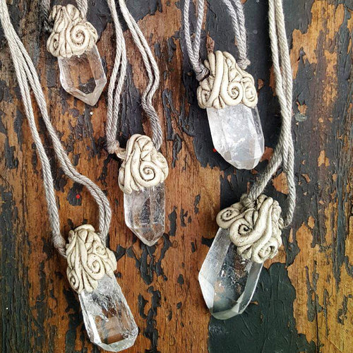 Clear Crystal Quartz Pendants - Pure People
