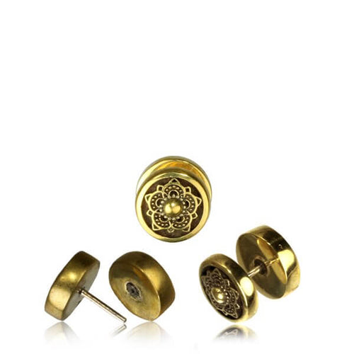Brass Faux Gypsy Plug / Tunnel - Pure People