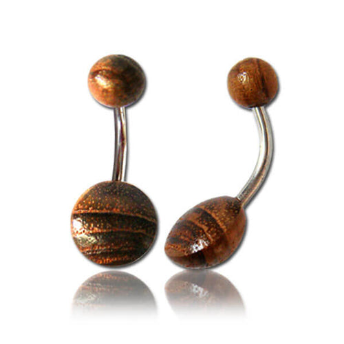 Wooden Bellyring - Pure People