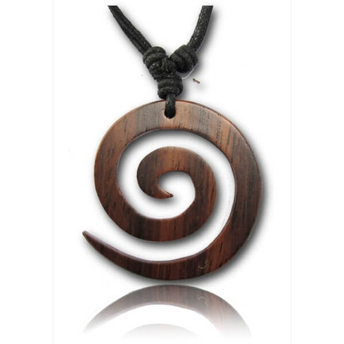 Wooden Spiral Pendant-Pure People