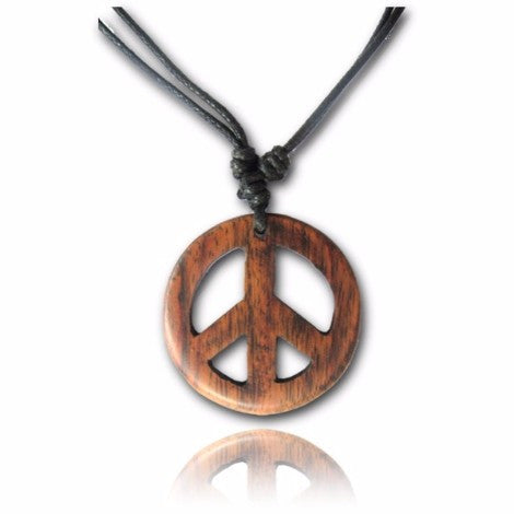 Wooden Peace Sign Pendant - 38% OFF-Pure People
