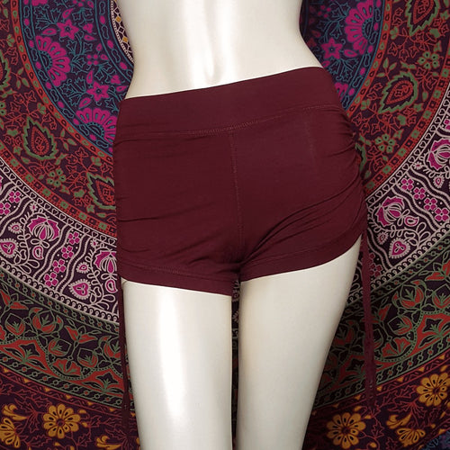 Maroon Shorts With Draw String Detail And Pockets - Pure People