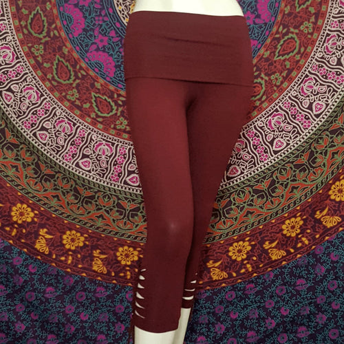 Maroon Warrior Leggings - Pure People