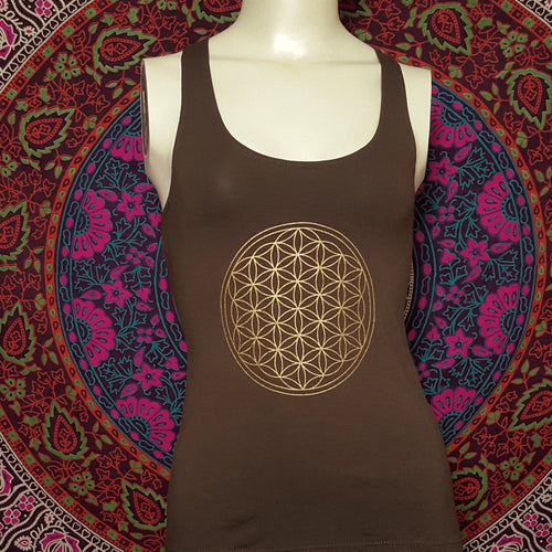 Flower Of Life Tank Top With Slash Back - Pure People