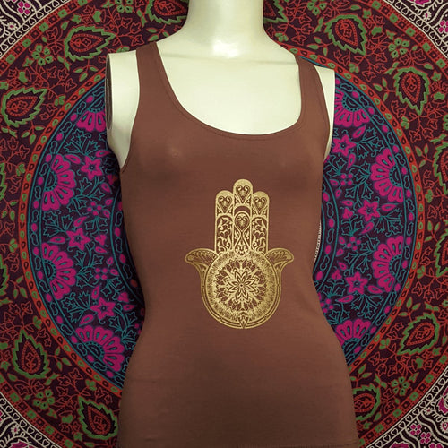 Hamsa Tank Top With Slash Back - Pure People