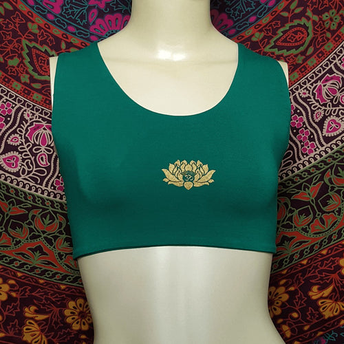 Lotus Crop Top With Woven Back Detail