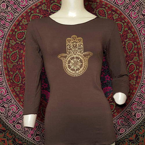 Hamsa 3/4 Sleeve Top - Pure People
