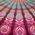 Dark Pink / Turq Sacred Circles Mandala Throw