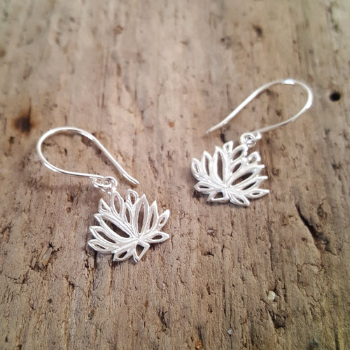 Silver Lotus Earrings - Pure People