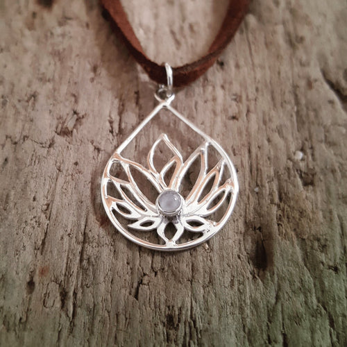 Silver Lotus Pendant-Pure People