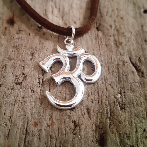 Silver Om Pendant-Pure People