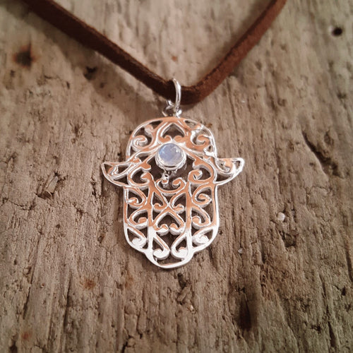 Silver Hamsa Pendant-Pure People