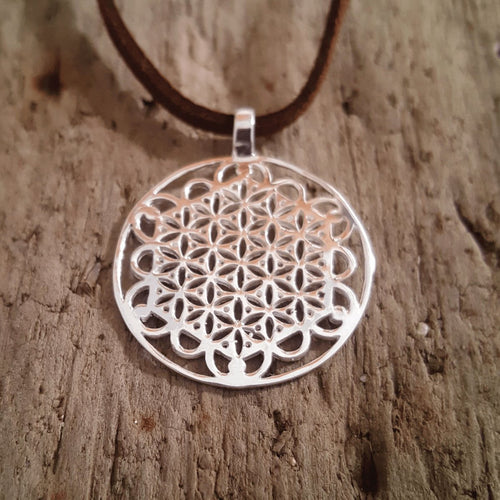 Silver Flower of Life Pendant-Pure People